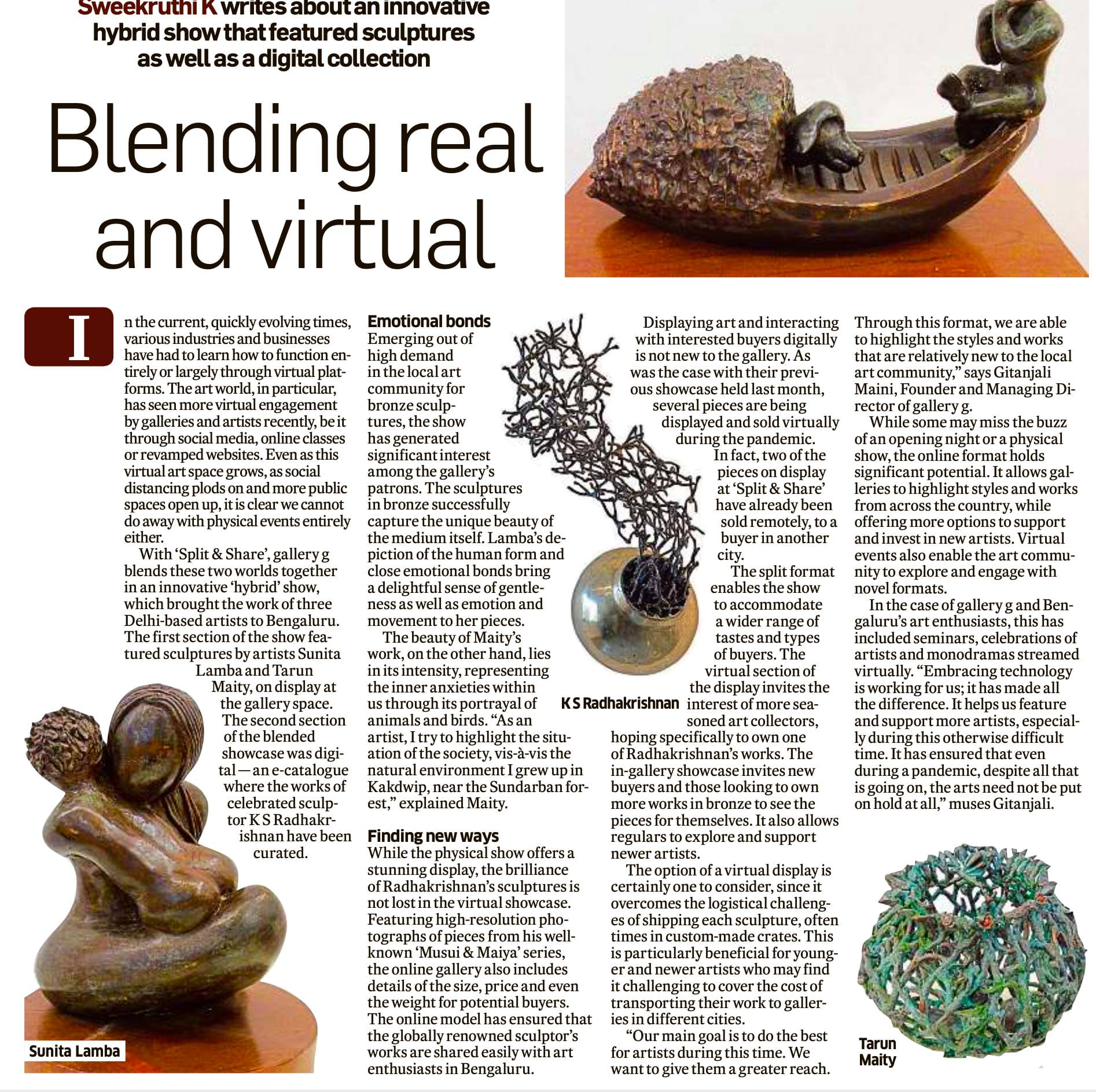 Blending real and virtual